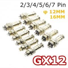 Gx12 Conector 7 Pin Circular Rosca 12mm Macho Y Hembra Chasis Itytarg