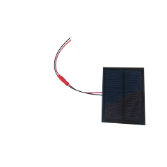 Panel Solar 5v 0.5w 84x62mm 100ma  Con Cable 10cm Jst Y Ficha Conexion Itytarg