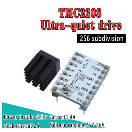 Tmc2208 Driver Motor Paso A Paso Steper Driver Micropaso Itytarg - IT&T  Argentina S A