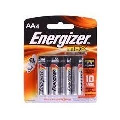 Pack X 4 Pila Aa 1.5v Energizer Alcalina E-91 Itytarg