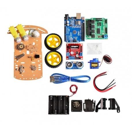 Kit Educativo Auto Robotica Arduino 2wd Itytarg