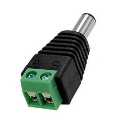 Adaptador Macho Plug Dc 5.5 X 2.1mm A Bornera Itytarg