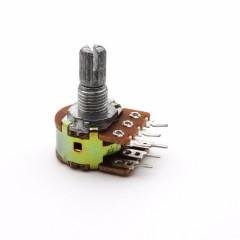 Potenciometro Doble Stereo 10k Lin B10k 15mm Itytarg