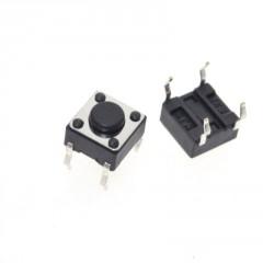 Lote 50 X Tact Switch 6x6x4.3mm 4 Pin Itytarg