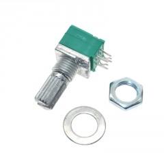 Potenciometro 50k Rk097g Lineal Audio Sellado 6pin 15mm Itytarg