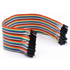 Cable Dupont 30cm Hembra Hembra 40 Hilos Arduino