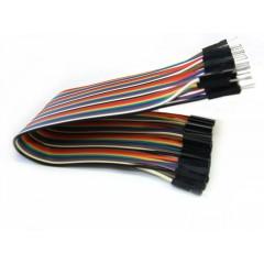40 Cables Macho Hembra Dupont 30cm Arduino