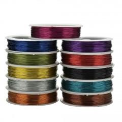 Rollo 40m Cable Wire Wrapping Unifilar Esmaltado Azul 0.5mm Itytag