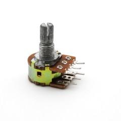 Potenciometro Doble Stereo 50k Lineal Wh148 B50k 15mm Itytarg