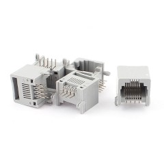 Jack Modular Conector 8p8c Rj45 Ethernet 90 Gris Itytarg
