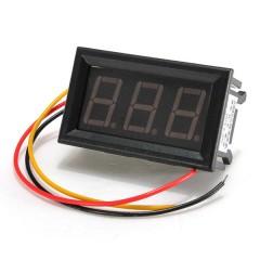 Voltimetro Panel 3 Hilos 0-30v Rojo Display 0.56 Pulg Itytarg