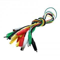 Cable Pinza Clip Cocodrilo Cocodrilo Negro 50cm Arduino Itytarg