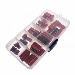 Kit Dip Switch 45 Piezas 9 Modelos 5 C/u Color Rojo Itytarg