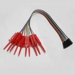 10 X Clip Pinza Gancho Test Con Cable Dupont 30cm Rojo Tytarg