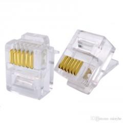 10 X Conector Plug Rj12 ( Rj11 6 Pines ) 6p6c Telefonico Itytarg