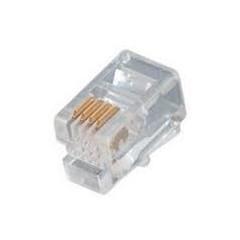 25 X Conector Plug Rj9 4 Pines  4p4c Telefonico Itytarg