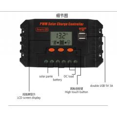 Controlador Cargador Panel Solar Bateria 12v 24v 10a Usb 5v  Itytarg