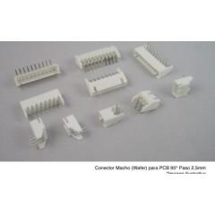 Lote 10 X Conector Header Js Wafer Macho 6pin Pitch 2.54mm Js-1001r-6 90 Grados  Itytarg