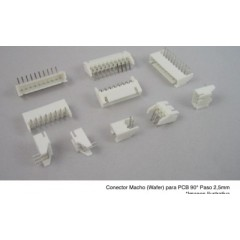 Lote 10 X Conector Header Js Wafer Macho 8pin Pitch 2.54mm Js-1001r-8 90 Grados  Itytarg