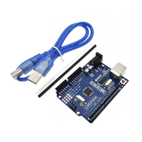Arduino Uno R3 Compatible Atmega328p-au Smd Ch340g Con Cable Usb  Itytarg