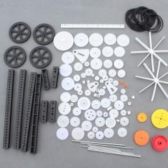 Kit 92 Piezas Accesorios Robotica Engranajes Ruedas Poleas Correas Soportes Paletas Itytarg