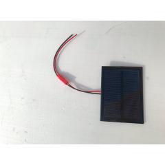 Panel Solar 5v 0.5w 84x62mm 100ma  Con Cable 10cm Jst Y Ficha Conexion Itytarg