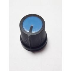 Perilla Potenciometro 15 X 17 X 6mm Estriada Azul Itytarg
