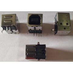 Conector Usb B 2.0 Hembra Para Soldar Pcb 90 Grados - Negro Tipo Esb02101002z   Itytarg