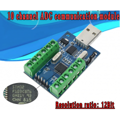 Interfaz Usb Uart A/d 10ch 12bits Stm32f103c8t6 Sensores Itytarg