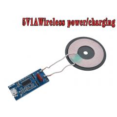 Fuente Alimentación Inalámbrica Para Cargador 5v 1a 5w Transmisor Universal Micro Usb Bobina De Carga Itytarg
