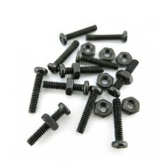 Kit Bolsa 10 X Juegos Tuercas Y Tornillo Acero Negro Phillips M2 X 10mm M2*10 Robotica Cnc 3d Itytarg