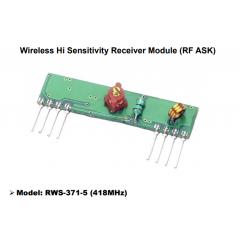 Receptor Control Remoto 418mhz Rws-371-5 (418) Wenshing Itytarg