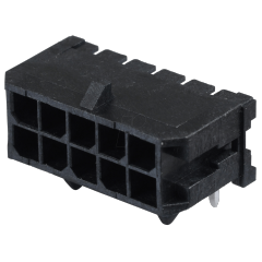 Conector Microfit Header 3mm 10 Pines 2x5 T/h Pcb 90 Grados Con Traba Lateral Tipo 10132449-1021glf Itytarg