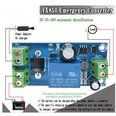 Yx850 Conmutacion Automatico De Carga Para Cargador De Bateria 5 V-48 V  Itytarg