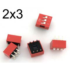 Lote 5 X Dip Switch Rojo 3pin Pitch 2.54mm 24v 25ma Itytarg