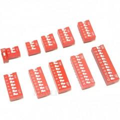 Lote 5 X Dip Switch Rojo 12pin Pitch 2.54mm 24v 25ma Itytarg