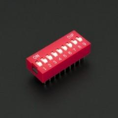 Lote 5 X Dip Switch Rojo 9pin Pitch 2.54mm 24v 25ma Itytarg