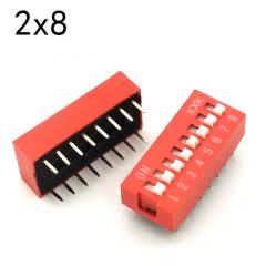 Lote 5 X Dip Switch Rojo 8pin Pitch 2.54mm 24v 25ma Itytarg