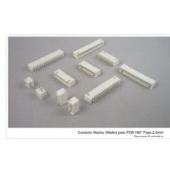 Lote 25 X Conector Header Xh2.54 Macho 2pin Pitch 2.54mm Js-1001-2 Recto Itytarg