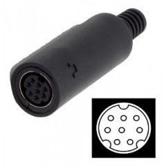 Conector Hembra Mini Din 8 Pines Tipo Md-80j Itytarg