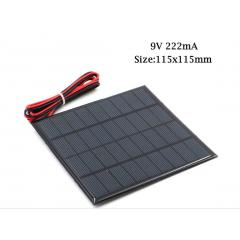 Panel Solar 9v 222ma  2w Cnc115x115-9 11.5x11.5cm Itytarg
