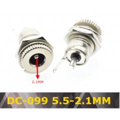 Panel Jack Dc Dc099  5.5 2.1mm 5.5 * 2.1 Dc Con Tuerca Itytarg
