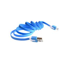 Cable Plano Azul Micro Usb A Tipo A Macho  Itytarg