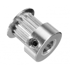 Polea Dentada Aluminio 2gt 20t 5mm - Diam: 12mm / 18mm - Alto 16mm Robotica 3d Cnc  Itytarg