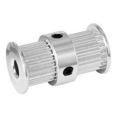 Polea Dentada Doble Aluminio Gt2-20t 5mm - Diam: 12mm / 15.5mm Alto 27.5mm Robotica 3d Cnc  Itytarg