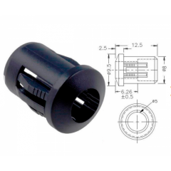 Lote 10 X Portaled 5mm Mirilla Led 5mm  Plastico 9.5x12.5mm Tipo Rtf-5010 Itytarg