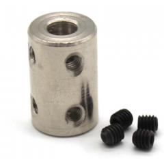 Acoplamiento  De Acero Tipo 45 Para Eje 5mm-8mm Con 4 Tornillos  Itytarg