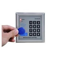 Kit Control Acceso Rfid 125khz Reader+teclado+fuente+5 Llaveros+5 Tarjetas 1000 Usuarios Itytarg
