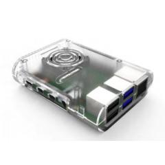 Kit Gabinete Abs Raspberry Pi 4b +  Cooler + Disipadores X 4 Marca 52pi  Itytarg