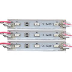 Barra Modulo Led Rojo 5730 12v 40ma 3 Leds Para Señalizacion Cerco Electrico Perimetral Boyero Itytarg